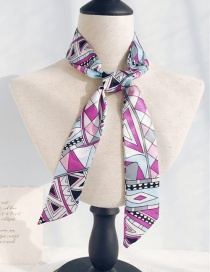 Fashion Triangle Geometry Blue Purple Long Narrow Scarf
