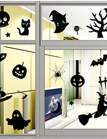 Fashion Multicolor Kst-27 Halloween Green Wall Sticker