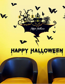 Fashion Multicolor Sk9226 Halloween Wall Sticker