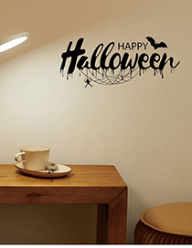 Fashion Multicolor Kst-70 Happy Halloween English Wall Sticker