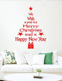 Adhesivo De Pared M-85 Christmas Tree Printing