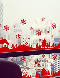Adhesivo De Navidad Copo De Nieve Ss-32 Removible