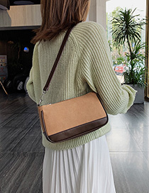 Fashion Brown Scrub Shoulder Messenger Bag