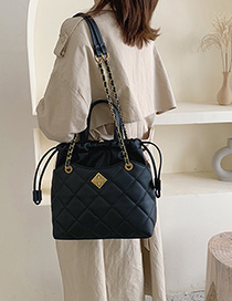 Fashion Black Grids Pattern Bags