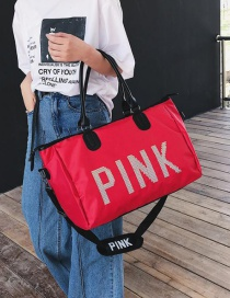 Red Letter Pink Portable Bag