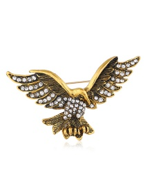 Fashion Gold Diamond Brooch