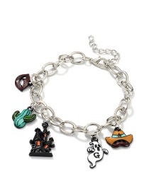 Fashion Silver Halloween Castle Impory Lips Bracelet
