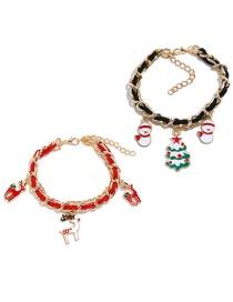 Fashion Elk Tree Set Suede Chain Santa Claus Elk Bracelet