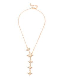 Fashion Gold Micro-studded Word Star Necklace