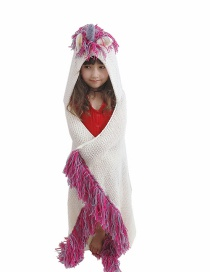 Fashion Rose Red (90*120cm) Unicorn Wool Tassel Cover With Shawl One Cap