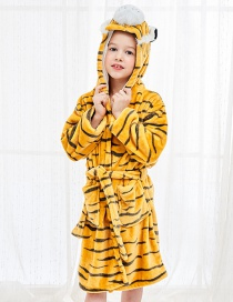 Fashion Tiger Robe Flannel Cartoon Hooded Animal Home Service