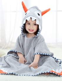 Fashion Horn Printed Hooded Children's Bath Towel