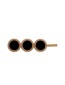 Fashion Black Alloy Drop Oil Geometric Round Hair Clip