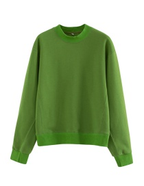Fashion Green Plain Sweater