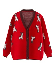 Fashion Red Contrast Puppy Sweater