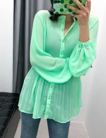 Fashion Green Full Body Compression Chiffon Shirt