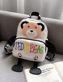 Fashion White Cartoon Children's Backpack