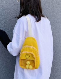 Fashion Yellow Canvas Cartoon Crossbody Chest Bag