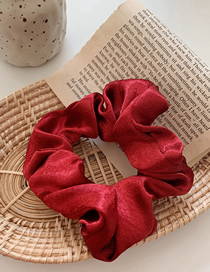 Fashion Red Wine Silk Satin Large Intestine Ring Hair Ring