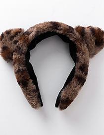 Fashion Brown Leopard Cat Ear Headband