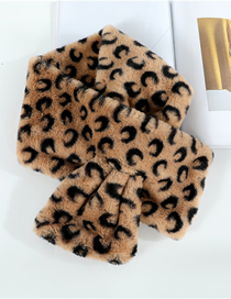 Fashion Plus Brown Moon Imitation Rabbit Fur Scarf