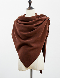 Fashion Brown Triangle Scarf Thick Cashmere Shawl Cloak