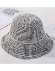 Fashion Light Grey Knitted Wool Cap