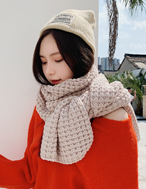Fashion Pink Knitted Wool Scarf