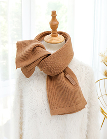 Fashion Dark Khaki Knitted Woolen Thickened Bib Shawl