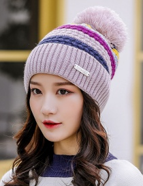 Fashion Blue Colorful Color Matching Wool Cap