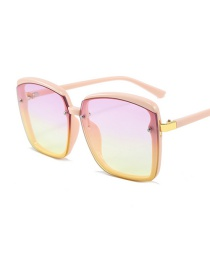 Fashion Purple Frame On Purple Yellow Box Screw Sunglasses