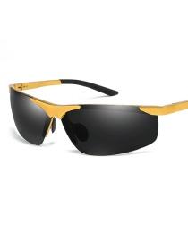 Gafas De Sol Polarizadas Cuadradas De Aluminio Y Magnesio Sin Cejas
