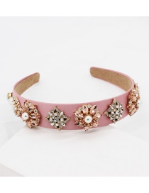 Fashion Pink Diamond Headband