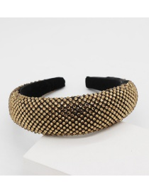 Fashion Gold Full Diamond Sponge Headband