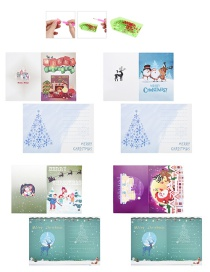 Fashion Color Diamond Painted Christmas Card (four Cards + Four Envelopes + Four Diamond Bags + One Point Drill Pen + One Diamond Tray + One Piece Of Clay)