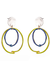 Fashion Silver Round Earrings