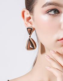 Fashion Brown Geometric Triangle Earrings