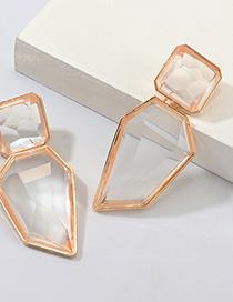 Fashion Gold Geometric Irregular Resin Earrings