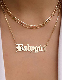 Collar Doble Carta Inglés Babygirl