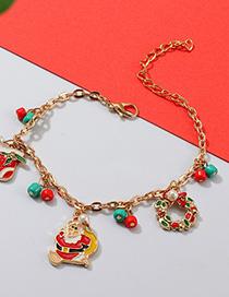 Fashion Color Cartoon Santa Claus Christmas Stocking Bracelet