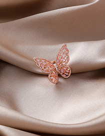 Fashion Gold Zircon Crystal Bow Ring