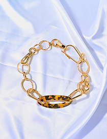 Fashion Gold Chain Leopard Metal Necklace