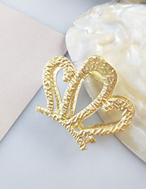 Fashion Gold Alloy Gripper Hair Claw