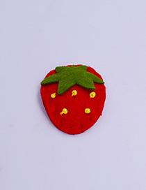 Fashion Strawberry Cartoon Fruit Animal Hair Clip