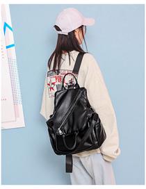 Fashion Black Contrast Shoulder Bag  Pu