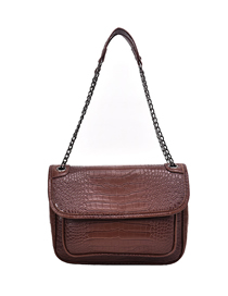 Fashion Small Brown Stone Pattern Shoulder Messenger Bag