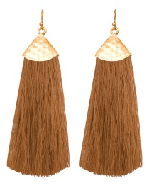 Fashion Brown Tassel Earrings