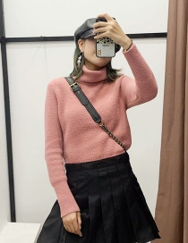 Fashion Pink Turtleneck Sweater