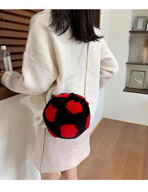 Fashion Red Plush Contrast Single Shoulder Bag