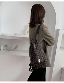 Fashion Brown Checkered Shoulder Bag